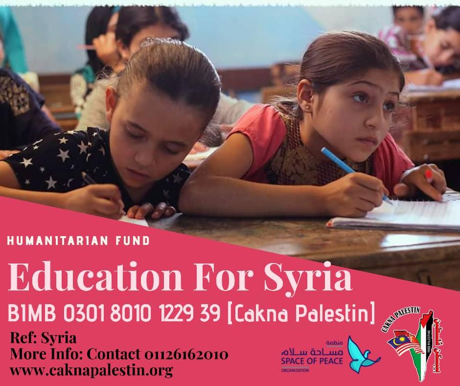 INFAQ PENDIDIKAN UNTUK PALESTIN DAN SYRIA