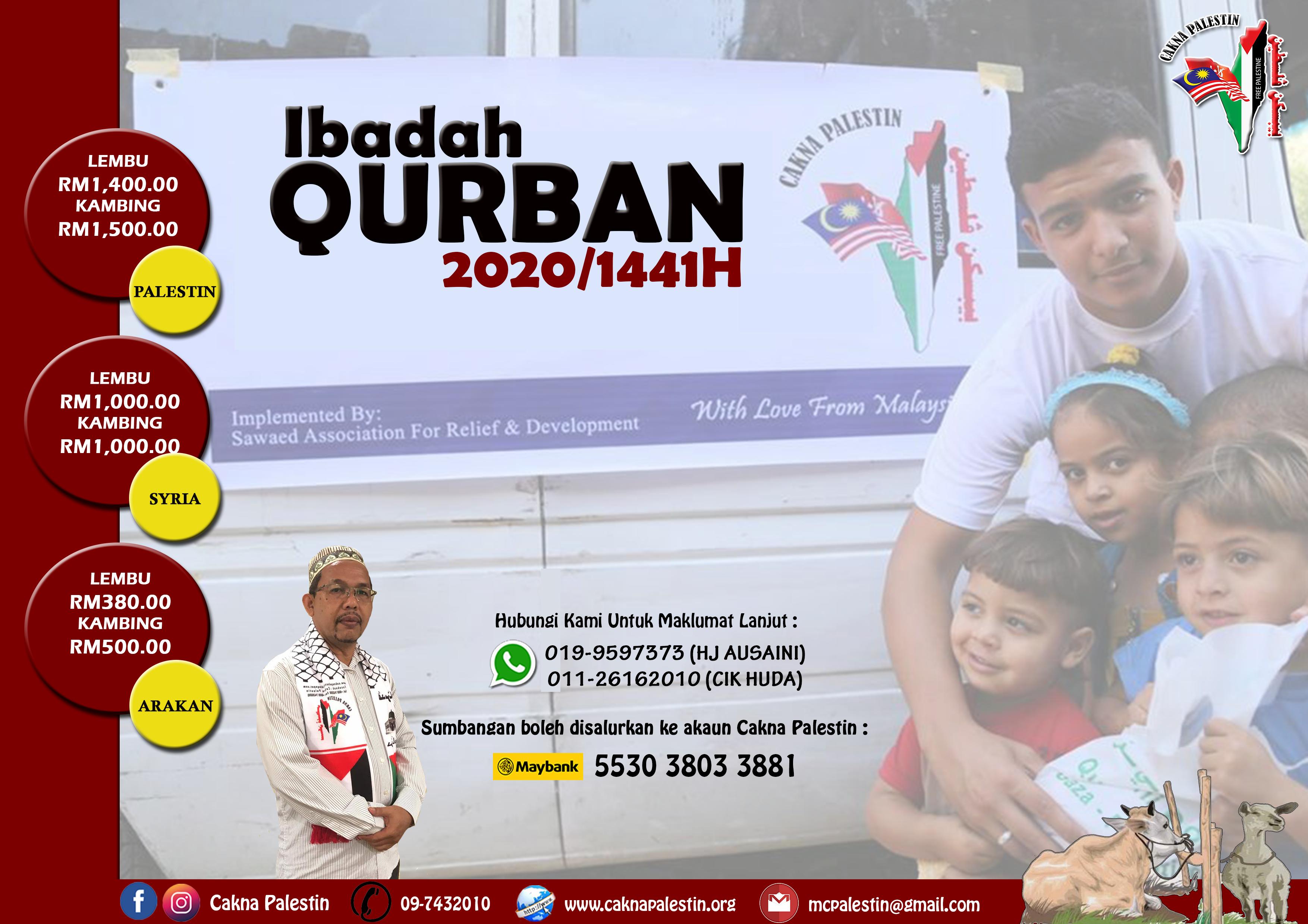 IBADAH QURBAN 2020 DI PALESTIN, SYRIA & ARAKAN